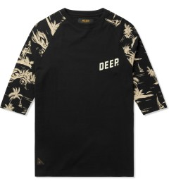10.Deep Black Black Sand ¾ Sleeve Baseball T-Shirt Picutre
