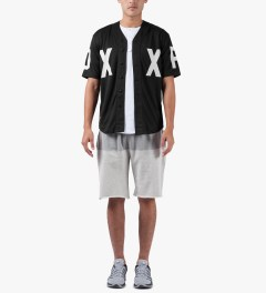 10.Deep Black DXXP Baseball Jersey Model Picutre