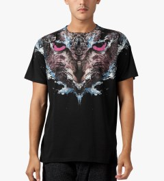 Marcelo Burlon Black Cabeza Lechuza T-Shirt Model Picutre