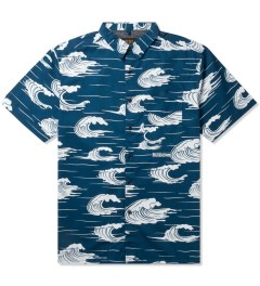 10.Deep Blue Island Life Button Down Shirt Picutre