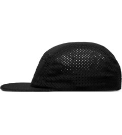 Publish Black Jinan Jersey Mesh 5-Panel Camper Cap Model Picutre