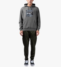 HUF Grey Heather Tiger Camo Pullover Hoodie Model Picutre