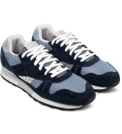 Reebok Garbstore x Reebok Navy/Purple Shadow Phase II Shoes Model Picutre