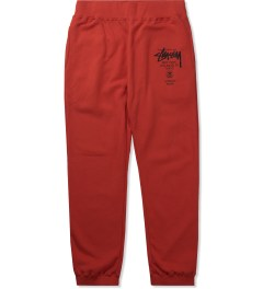 Stussy Brite Red World Tour Sweatpant Picutre