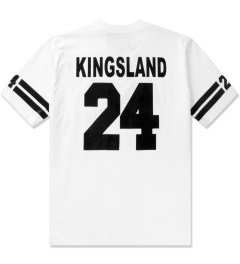 Casely Hayford White Kingsland Skate Printed T-Shirt Model Picutre