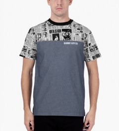 Billionaire Boys Club Chambray S/S Space News Crewneck T-Shirt Model Picutre