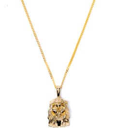 "Four Two Four 18K Gold 30"" Cuban Messiah Necklace Picutre"
