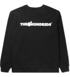 The Hundreds Black Forever Bar Crewneck Sweater Picutre