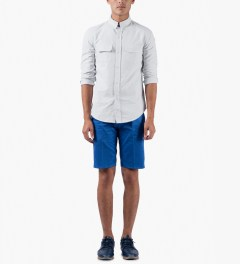 Band of Outsiders White L/S Work Shirt Model Picutre
