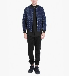 Damir Doma Coal SABLE Stand Up Collar Shirt Model Picutre