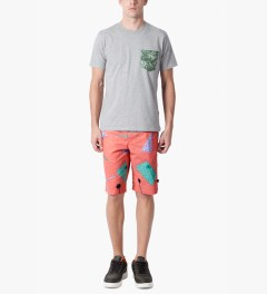 HUF Peach 1986 Easy Shorts Model Picutre