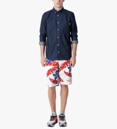 HUF White Copacabana Easy Shorts Model Picutre