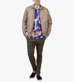 Gitman Bros. Vintage Multicolor Print Birds Of Paradise S/S Shirt Model Picutre