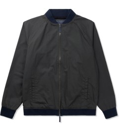ZANEROBE Washed Black Dugout Bomber Jacket Picutre