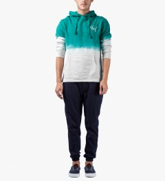 HUF Jade/Off White Tie-dye Pullover Hoodie Model Picutre