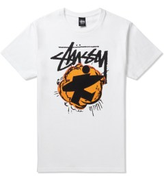 Stussy White Pop Surfman T-Shirt Picutre