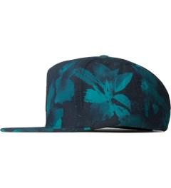HUF Navy Floral Box Logo Snapback Cap Model Picutre