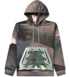Uppercut Glitch Coated Pocket Printed Side Zip Up Hoodie Picutre