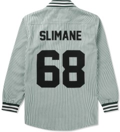 LES (ART)ISTS White Slimane 68 Oxford Baseball Shirt Picutre