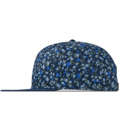 SATURDAYS Surf NYC Blue Canyon Floral Print Baseball Cap Model Picutre