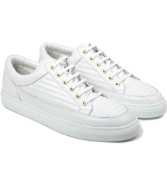 ETQ White Ribbed Low Top 2 Sneakers Model Picutre