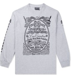 The Hundreds Athletic Heather Stencil L/S T-Shirt Picutre