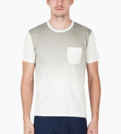 Aloye Grey/Off-white Gradation Print S/S T-Shirt Model Picutre