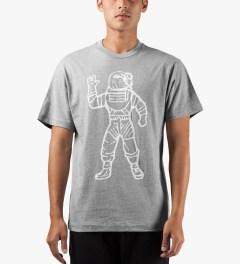 Billionaire Boys Club Heather Grey S/S Full Astronaut T-Shirt Model Picutre