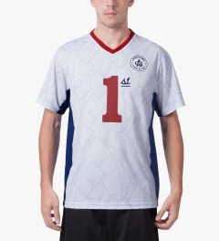 Acapulco Gold White First Team Soccer Jersey Model Picutre