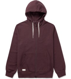 Marshall Artist Burgundy Melange Zip-Through Hoodie Picutre