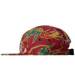 HUF Red Souvenir Volley 5-Panel Cap Model Picutre
