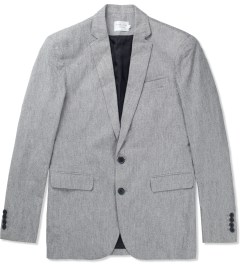 Shades of Grey by Micah Cohen Speckled Grey 2 button Blazer Picutre