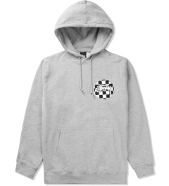 Stussy Heather Grey Checks Stock Pullover Hoodie Picutre