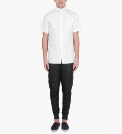 Stampd White Star Short Sleeve Button Down Shirt Model Picutre