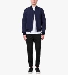 3.1 Phillip Lim Black Combo Front Panel Slim Lounge Pants Model Picutre