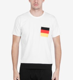 Aloye Aloye x WONG WONG White/Black Germany Color Blocked S/S T-Shirt Model Picutre