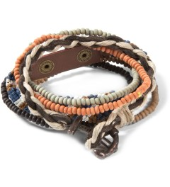 Icon Brand Brown/Blue/White Woven Bracelet Picutre