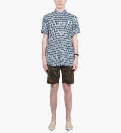 Grand Scheme Cobalt Brush Native S/S Shirt Model Picutre