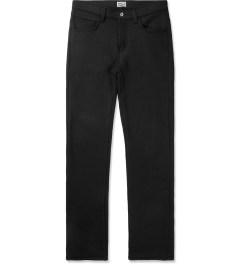 Naked & Famous Black Knit Fleece Sweat Jeans Picutre