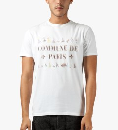 Commune De Paris White Fuite T-Shirt Model Picutre