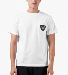 The Hundreds White Pirate Pocket T-Shirt Model Picutre