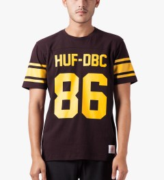 HUF Wine Wrecking Crew Football Jersey Model Picutre