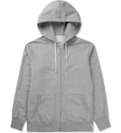 Reigning Champ Heather Grey RC-3205-1 Midweight Twill Fr Terry L/S Full Zip Hoodie Picutre