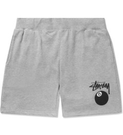 Stussy Heather Grey 8 Ball Sweatshorts Picutre