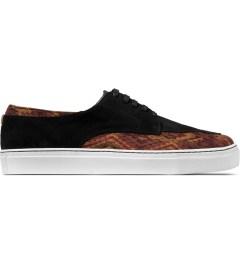 E.R SOULIERS DE SKATE Brown Inca/Black Suede Shoes Picutre