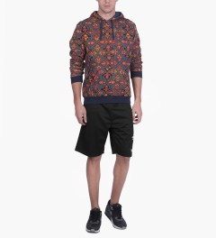 Stussy Black One World Mesh Shorts Model Picutre