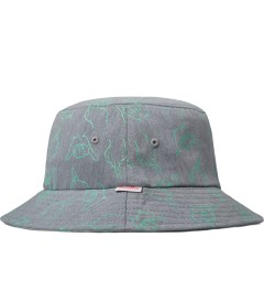 Primitive Grey HLFU Bucket Hat Model Picutre