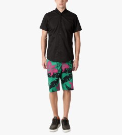 HUF Teal Copacabana Easy Shorts Model Picutre