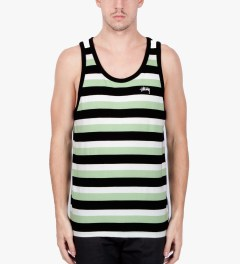 Stussy Black Daniel Tank Top Model Picutre