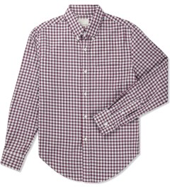Band of Outsiders Red/White Gingham LS Button Down Shirt Picutre